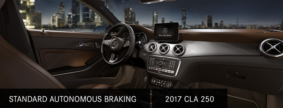 Safety features and Interior of the 2017 CLA250- available at Crown Mercedes-Benz Dublin near Easton Town Center