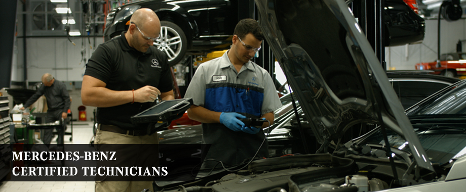 Mercedes-Benz Service Center Technicians in Dublin OH serving Columbus and  Springfield.