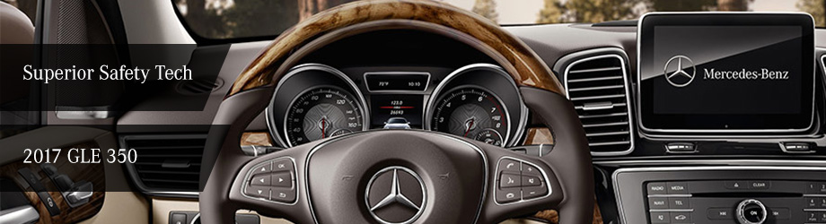 Safety features and interior of the 2017 GLE 350 - available at Crown Eurocars of Dublin near Columbus and Easton Town Center