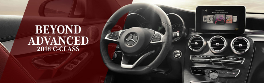 Safety features and interior of the 2018 C-Class - available at Crown Eurocars in Dublin near Springfield, OH