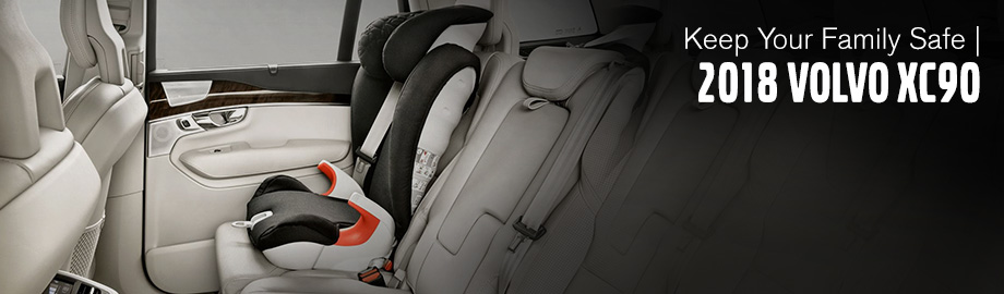 Safety features and interior of the 2018 Volvo XC90 - available at Crown Volvo Cars near Dunedin and Clearwater, FL