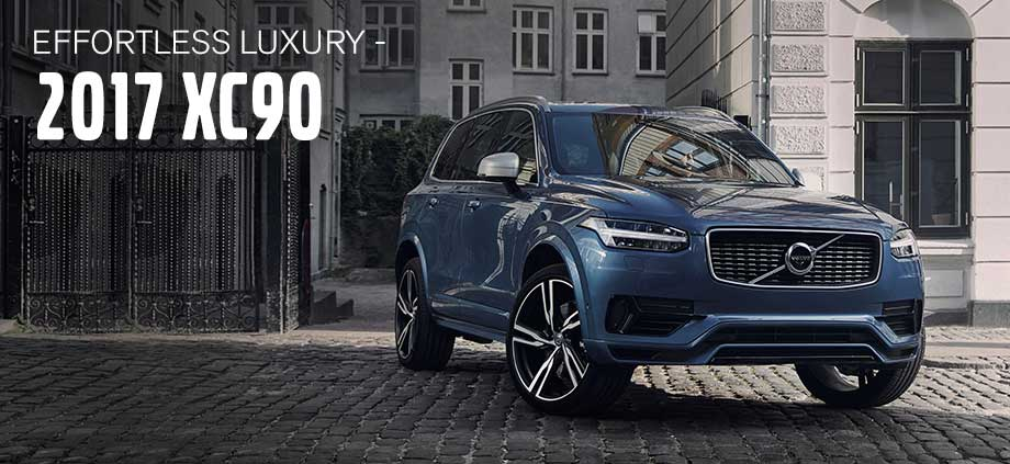 The 2017 XC90 is available at Crown Volvo Cars in Clearwater