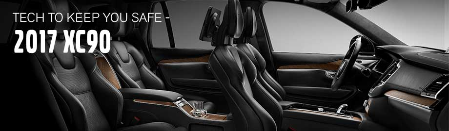 Safety features and interior of the 2017 XC90 - available at Crown Volvo Cars in Clearwater near St. Petersburg