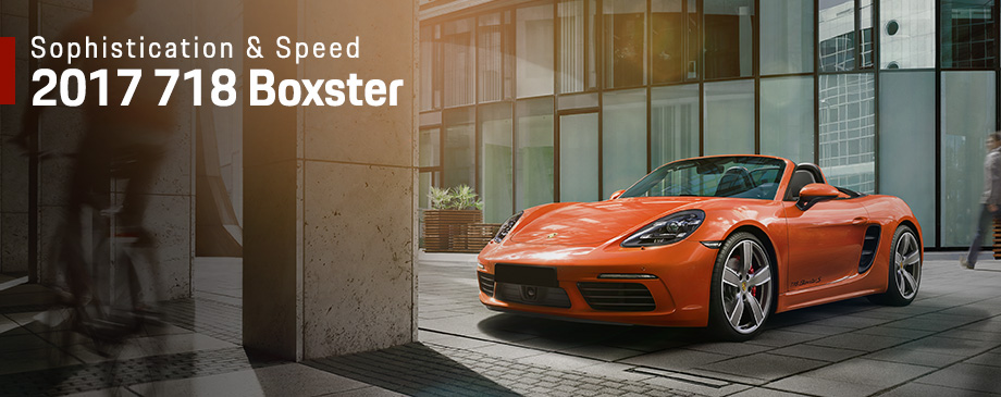 The 2017 718 Boxster is available at Capital Porsche