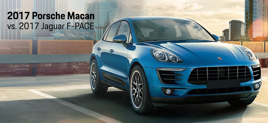 The 2017 Porsche Macan vs. the 2017 Jaguar F-PACE in Tallahassee