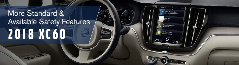 Safety features and interior of the 2018 XC60 - available at Capital Volvo Cars in Tallahassee near Marianna