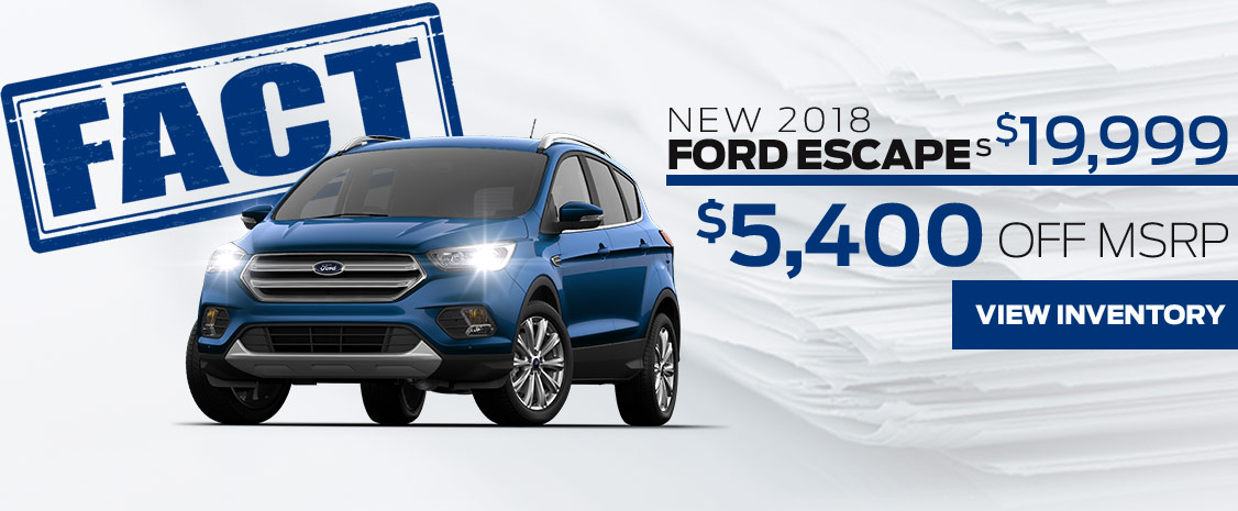 FACT Fremont Motor Company - New 2018 Ford Escape