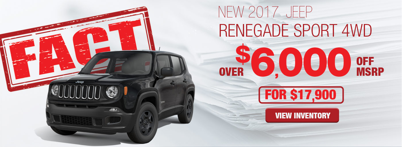 FACT Fremont Motor Company - New 2017 Jeep Renegade