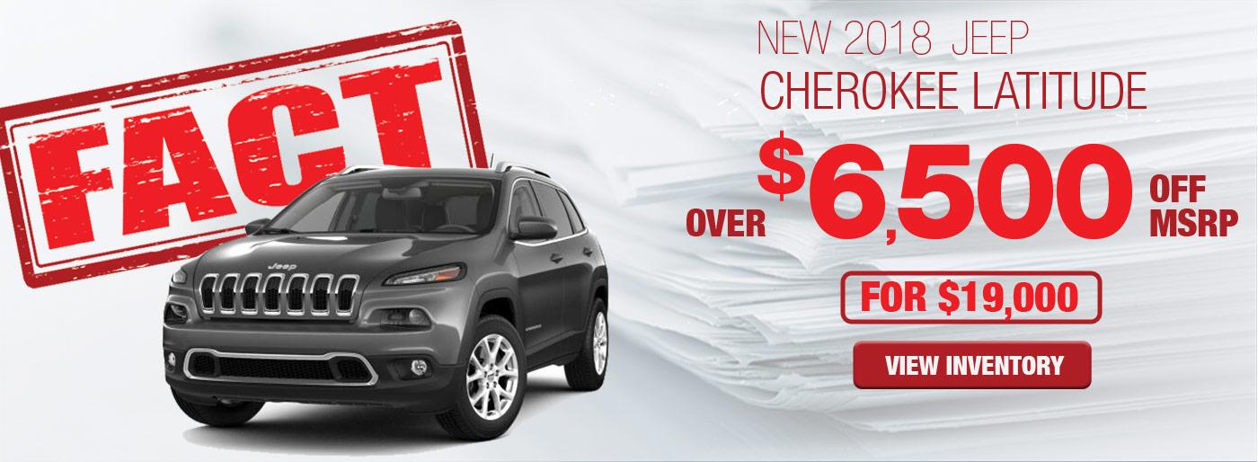 FACT Fremont Motor Company - New 2018 Jeep Cherokee Latitude