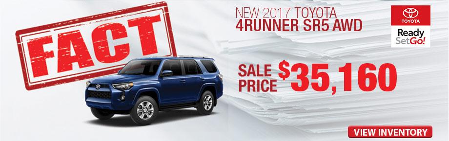 FACT Fremont Motor Company - New 2017 Toyota 4Runner SR5 AWD