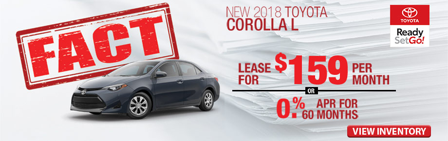 FACT Fremont Motor Company -New 2018 Toyota Corolla L