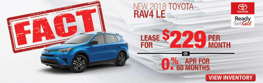 FACT Fremont Motor Company - New 2018 Toyota Rav4 LE