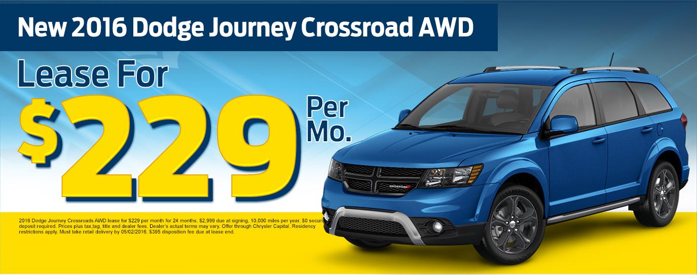 New 2016 Dodge Journey Crossroads AWD
