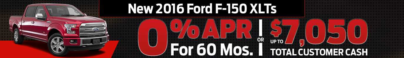 New 2016 Ford F-150 XLTs