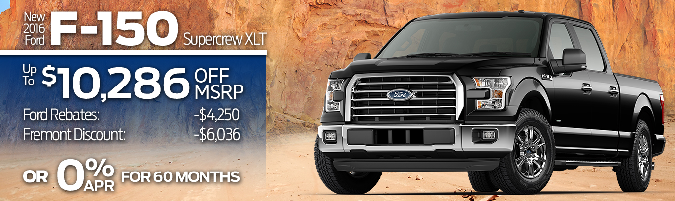 New 2016 Ford F-150 Super Crew XLT Up to $10,286 off MSRP!