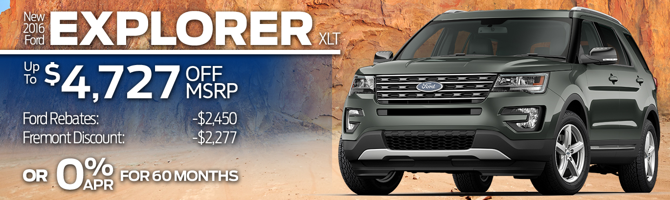 New 2016 Ford Explorer XLT Up to $4,727 off MSRP