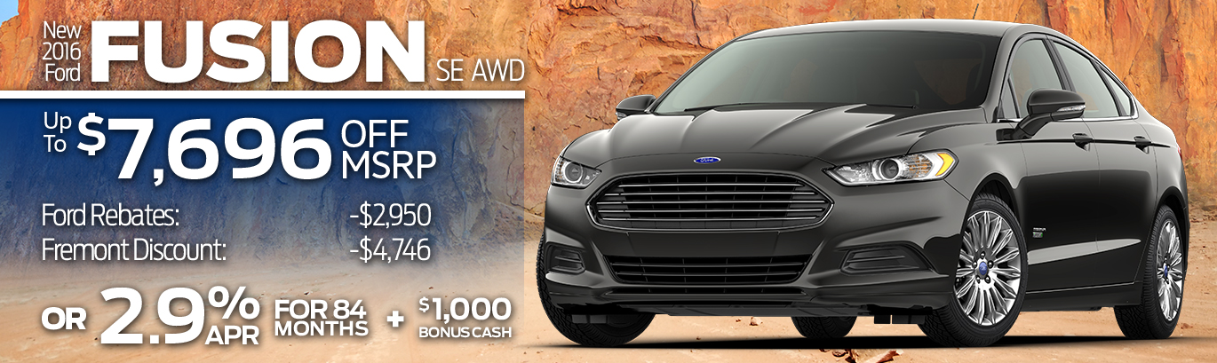 New 2016 Ford Fusion SE AWDUp to $7,696 off MSRP