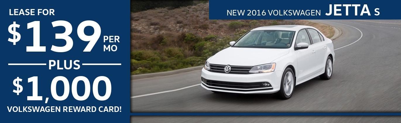 New 2016 Volkswagen Jetta S