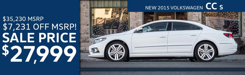 New 2015 Volkswagen CC S
