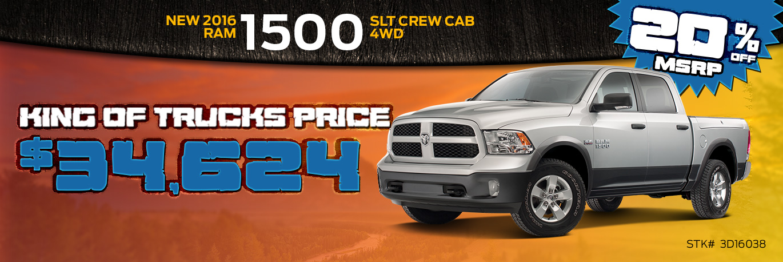 2016 RAM 1500 SLT Crew Cab 4WD