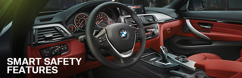 Safety features and interior of the 2018 4 Series available at Hilton Head BMW near Savannah and Hilton Head