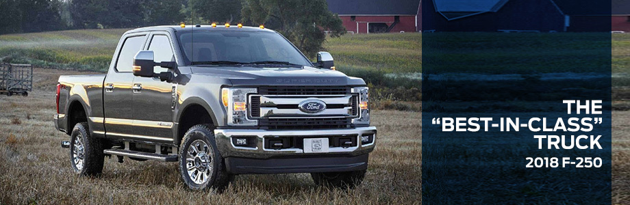 The 2018 F-250 is available at Jim Tidwell Ford in Kennesaw, GA