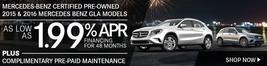 Mercedes-Benz Certified Pre-Owned Sales Event 2014, 2015 & 2016 Mercedes Benz CLA Models
