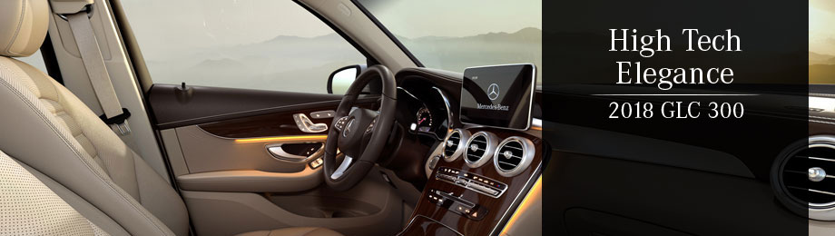 Safety features and interior of the 2018 Mercedes-Benz GLC 300 - available at Mercedes-Benz of Augusta near Evans and Augusta, GA