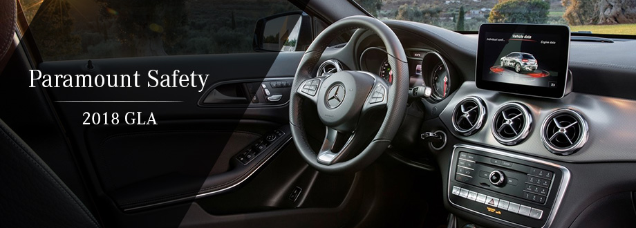 Safety features and interior of the 2018 Mercedes-Benz GLA - available at Mercedes-Benz of Augusta near Evans and Augusta, GA