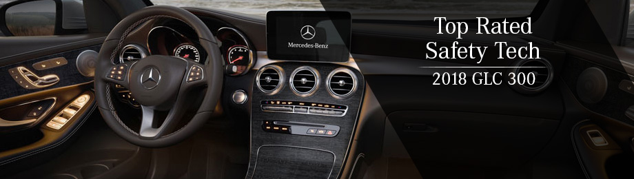 Safety features and interior of the 2018 GLC 300 - available at Mercedes-Benz of Augusta near Aiken and Evans, GA