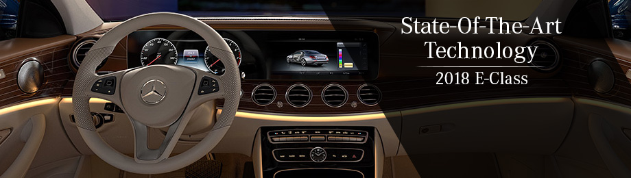 Safety features and interior of the 2018 E-Class - available at Mercedes-Benz of Augusta near Aiken and Evans, GA