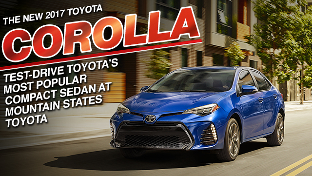 New 2017 Toyota Corolla Compact Sedan Mountain States Toyota Denver Colorado