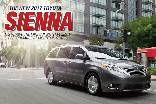Lease Buy New 2017 Toyota Sienna Low Price Special Incentives Minivan Mountain States Toyota Denver Colorado
