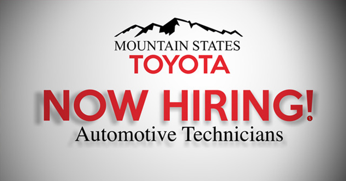 Mountain States Toyota Now Hiring!