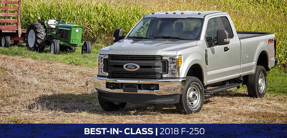 The 2018 F-250 is available at Rivertown Ford in Columbus, GA