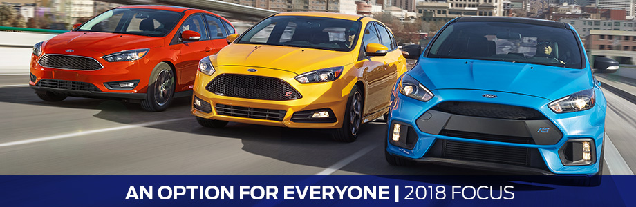 The 2018 Focus is available at Rivertown Ford in Columbus