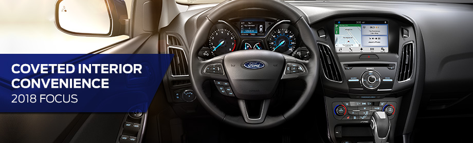 Interior of the 2018 Focus at Rivertown Ford near Phenix City and Fort Benning