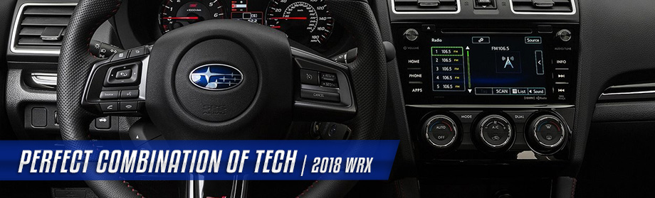 Safety features and interior of the 2018 Subaru WRX - available at Rivertown Subaru near Auburn-Opelika, AL and Columbus, GA