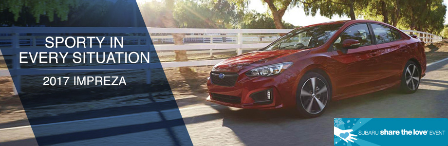 The 2017 Impreza is available at Rivertown Subaru in Columbus, GA