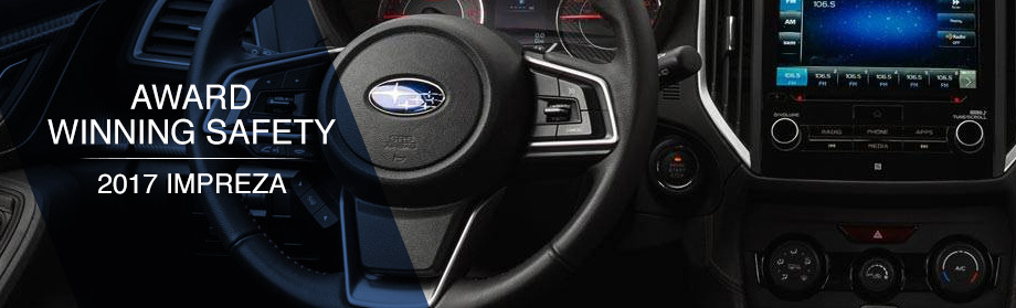 Safety features and interior of the 2017 Impreza - available at Rivertown Subaru near LaGrange and Auburn-Opelika, AL