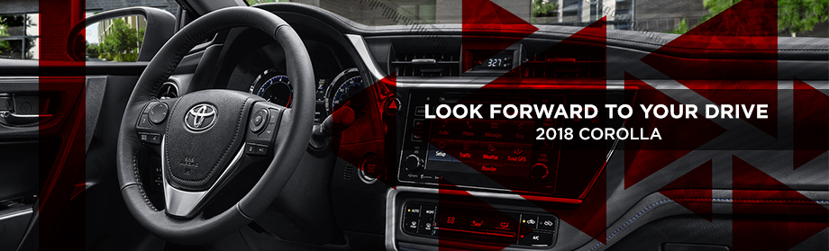 Safety features and interior of the 2018 Toyota Corolla - available at Rivertown Toyota near Auburn-Opelika, AL and Columbus, GA