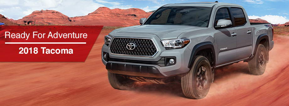 The 2018 Tacoma is available at Rivertown Toyota near LaGrange