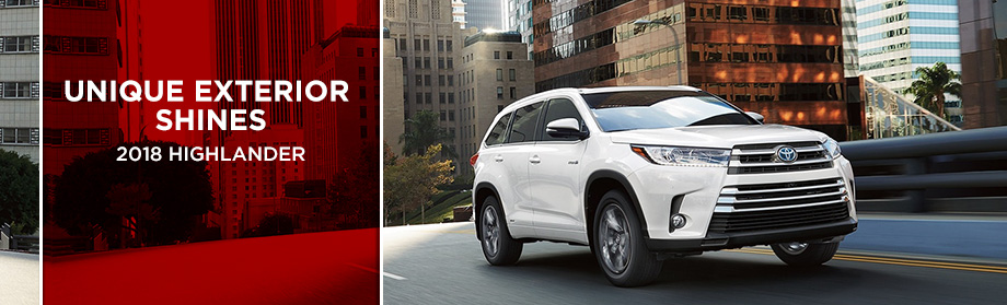 The 2018 Toyota Highlander at Rivertown Toyota in Columbus