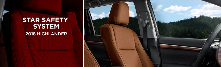 Safety features and interior of the 2018 Highlander - Available at Rivertown Toyota in Columbus near LaGrange