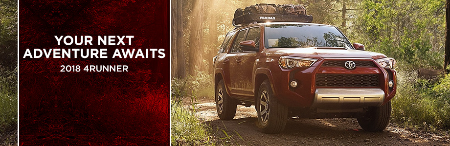 The 2018 Toyota 4Runner designed for traversing rough terrain is available at Rivertown Toyota
