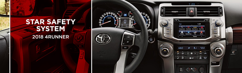 Safety features and interior of the 2018 4Runner - available at Rivertown Toyota near LaGrange and Opelika-Auburn