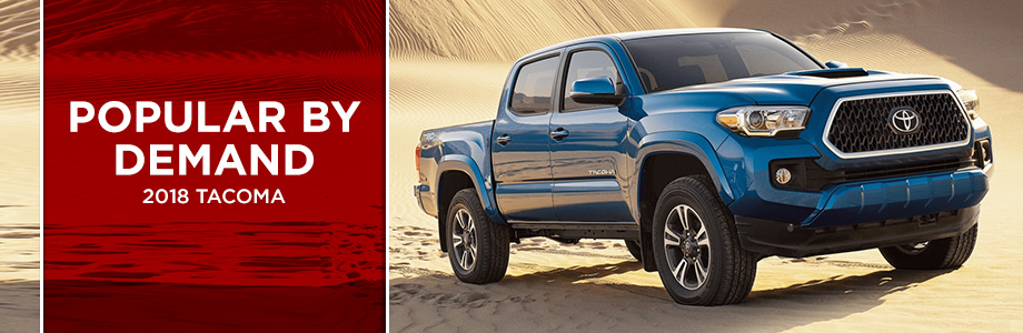 The 2018 Tacoma is available from Rivertown Toyota in Columbus, GA