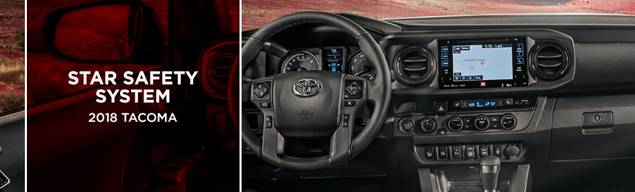 Safety features and interior of the 2018 Tacoma - available from Rivertown Toyota near LaGrange and Opelika-Auburn, AL