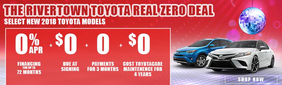 Rivertown Toyota's Real Zero Deal