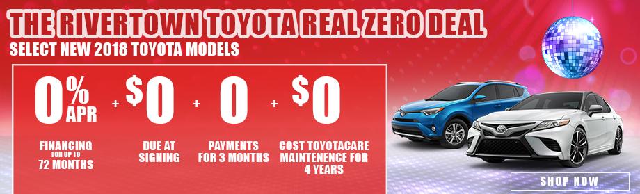 Rivertown Toyotau0027s Real Zero Deal